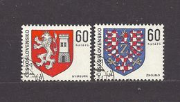 Tschechoslowakei Czechoslovakia 1975 Used Mi 2252-53 Sc 2000-01 Coat Of Arms Heraldry Wappen C3 - Czechoslovakia
