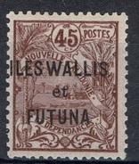 """Wallis And Futuna, Overprint """"ILES WALLIS ET FUTUNA"""", 45c., 1920, MH VF - Wallis En Futuna"""