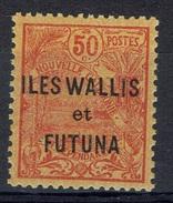 "Wallis And Futuna, Overprint ""ILES WALLIS ET FUTUNA"", 50c. Red/orange, 1920, MH VF - Unused Stamps"