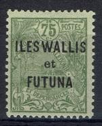 "Wallis And Futuna, Overprint ""ILES WALLIS ET FUTUNA"", 75c., 1920, MH VF - Wallis And Futuna"