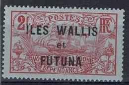 "Wallis And Futuna, Overprint ""ILES WALLIS ET FUTUNA"", 2f., 1920, MH VF - Unused Stamps"