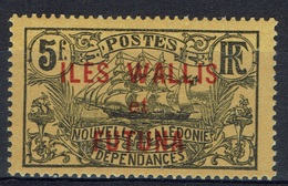 "Wallis And Futuna, Overprint ""ILES WALLIS ET FUTUNA"", 5f., 1920, MH VF - Wallis And Futuna"