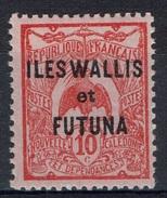 """Wallis And Futuna, Overprint """"ILES WALLIS ET FUTUNA"""", 10c. Red/rose, 1922, MH VF - Wallis And Futuna"""
