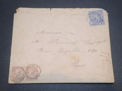 BELGIQUE - Enveloppe De Ypres Pour Paris En 1897 , Affranchissement Plaisant - L 11692 - 1893-1800 Fijne Baard