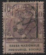 1924 Enti Parastatali Cassa Nazionale Ass. Sociali 50 C. US - 1900-44 Vittorio Emanuele III