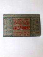 Calendarietto Alluminio Alle 7 Porte Meaglia Torino 1955 - Calendari