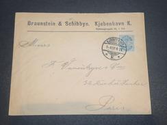 DANEMARK  - Enveloppe Commerciale Pour Paris En 1902, Affranchissement Plaisant - L 11696 - 1864-04 (Christian IX)
