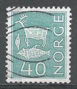 Norway 1963. Scott #423 (U) Rock Carvings - Norvège
