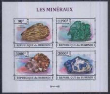 Burundi  Minerals Minéraux Feuillet De 4  Imperf - Minéraux