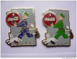 2 Pin S Bd Tintin Always Coca Cola Neuf - Comics