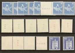 Schweiz, 1960, Rollenmarken Div. Mit Und Ohne Nr., 5, 10, 20 50 Rp. Siehe Scans! - Coil Stamps