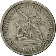 Portugal, 2-1/2 Escudos, 1969, TB+, Copper-nickel, KM:590 - Portugal