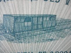 Cie SECONDAIRE Des VOIES FERREES  1911 PARIS - Chemin De Fer & Tramway