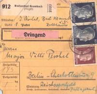 Paketkarte Radiumbad Brambach (Voglt.) - Germany