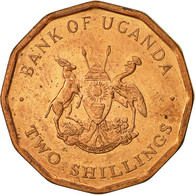Uganda, 2 Shillings, 1987, TTB+, Copper Plated Steel, KM:28 - Uganda