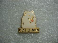 Pin's Chien Blanc: C'est Le Mien - Animals