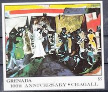 Grenada 1986 Mi Nr Blok 177 , Schilder Marc Chagall ; Bruiloft, Wedding - Grenada (1974-...)