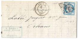 LETTRE Avec N° 60/1 13  G 3 ; 3éme état.    ; TTB - 1871-1875 Cérès