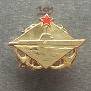 Badge (Pin) ZN006342 - Military (Army) Submarine (U-Boot) Yugoslavia - Army
