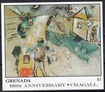 Grenada 1986 Mi Nr Blok 181 , Schilder Marc Chagall ; Waterdrager - Grenada (1974-...)