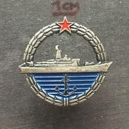 Badge (Pin) ZN006345 - Military (Army) Insignia Ship (Schiff) Serbia & Montenegro - Army