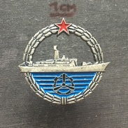 Badge (Pin) ZN006346 - Military (Army) Insignia Ship (Schiff) Serbia & Montenegro - Army