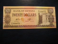 20 Dollars GUYANA Unused UNC Banknote Billet Billete Kaieteur Falls - Guyana