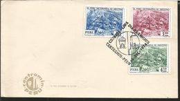 J) 1974 PERU, LA OROYA, MINING CENTER, MULTIPLE STAMPS, AIRMAIL, CIRCULATED COVER, FDC - Peru