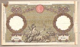 Italia - Banconota Circolata Da 100 Lire - 1941 - [ 1] …-1946 : Kingdom