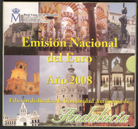 SPAIN  EURO SET 2008 BU FOC Incl. MEDAL ANDALUCIA - Espagne