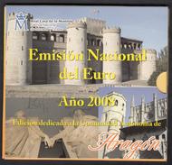 SPAIN  EURO SET 2008 BU FOC Incl. MEDAL ARAGON - Espagne