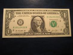 1 Dollar 2013 USA Unused UNC Banknote Billet Billete - Billetes De La Reserva Federal (1928-...)