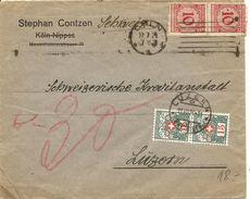 Schweiz, 1924, Brief Aus Deutschland, Nach Luzern, Taxiert, Siehe Scans! - Postage Due