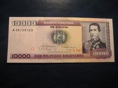 1 Centavo De Boliviano Overprinted On10.000 Pesos 1984 BOLIVIA Unused UNC Banknote Billet Billete - Bolivia
