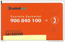 RARE TARJETA EUSKALTEL PERSONALIZADA 2 ESCANER - Tarjetas Telefónicas
