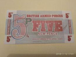 5 Pence - Autorità Militare Britannica