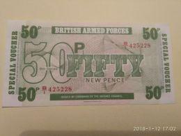 50 Pence - Autorità Militare Britannica