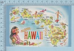Maps, Cartes Geographiques - Alowa HAWAII USA - Cartes Géographiques