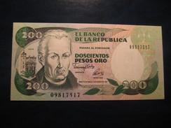 200 Pesos Oro 1992 COLOMBIA Unused UNC Banknote Billet Billete - Colombie
