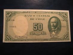 50 Pesos 5 Centesimos De Escudo CHILE Unused UNC Banknote Billet Billete - Chili
