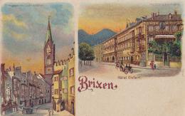1248/ Brixen, Oude Litho, Hotel Elefant, Adler-Gasse, Bitte Gegen Das Licht Zu Halten - Italië