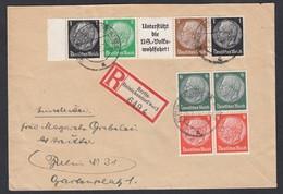 DR Orts - Einschreiben Brief Hindenburg Zusammendrucke 1940 Berlin Reinickendorf Nach Berlin N31 K28 - Briefe U. Dokumente
