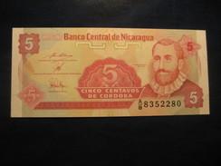 5 Centavos De Cordoba NICARAGUA Unused UNC Banknote Billet Billete - Nicaragua