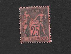 N° 91 ** NEUF , Gomme, Sans Trace Copie Sur Papier Ancien - 1876-1898 Sage (Type II)