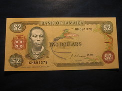 2 Dollars 1992 JAMAICA Unused UNC Banknote Billet Billete - Jamaique