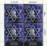 ISRAEL    Hoja Año 2010     Simon Wiesenthal     -41 - Blocks & Kleinbögen