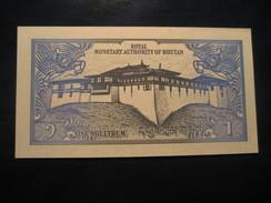 1 Gultrum BHUTAN Unused UNC Banknote Billet Billete - Bhoutan