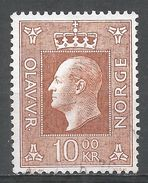 Norway 1970. Scott #541 (U) King Olav V, Roi - Norvège