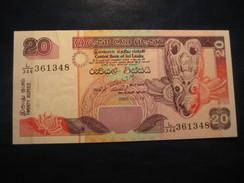 20 Rupees 2005 SRI LANKA Unused UNC Banknote Billet Billete - Sri Lanka