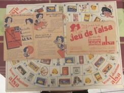 """Vintage""""Jeu De L'ALSA"""" Années 50+Règle Du Jeu-Dépliant Publicitaire Levure Alsacienne Nancy+enveloppe Originale Protecti - Jeux De Société"""